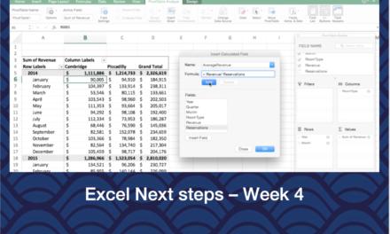 Excel Next Steps – Week 4