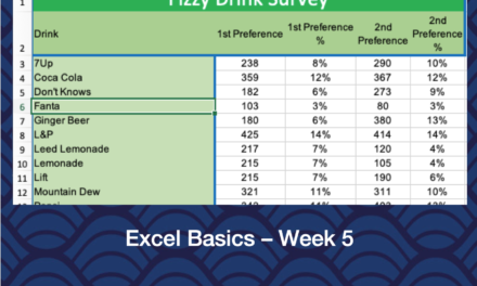 Excel Basics – Week 5