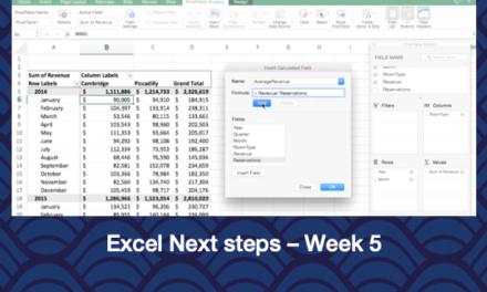 Excel Next Steps – Week 5