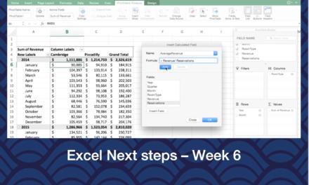 Excel Next Steps – Week 6